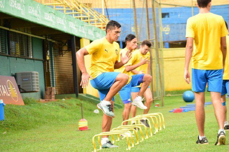 Ramón Coronel durante un entrenamiento del equipo.