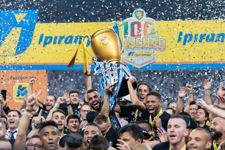 CAMPEONES. Gremio se consagró como campeón del Campeonato Gaúcho 2019.