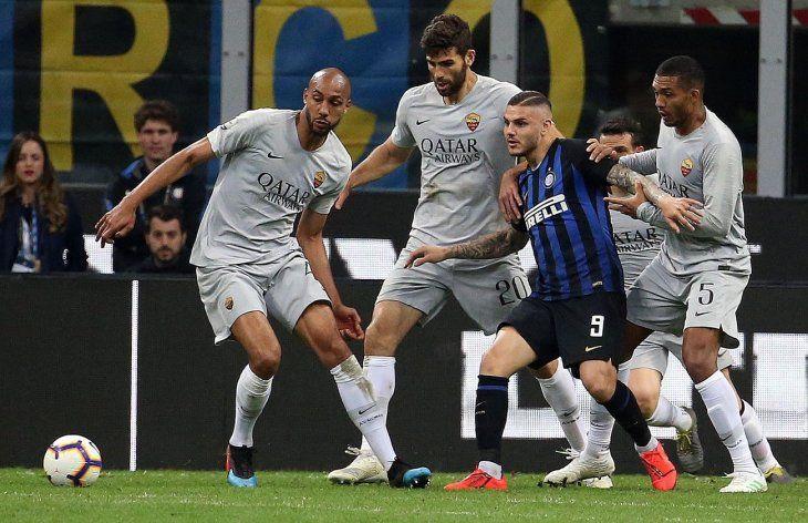 Inter y Roma firman tablas en San Siro y mantienen vivos sus objetivos.