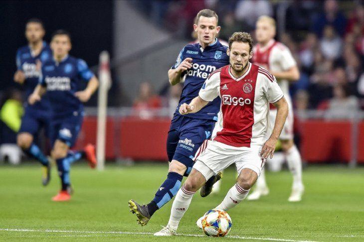 El Ajax volvió a ganar en la Liga de Holanda.