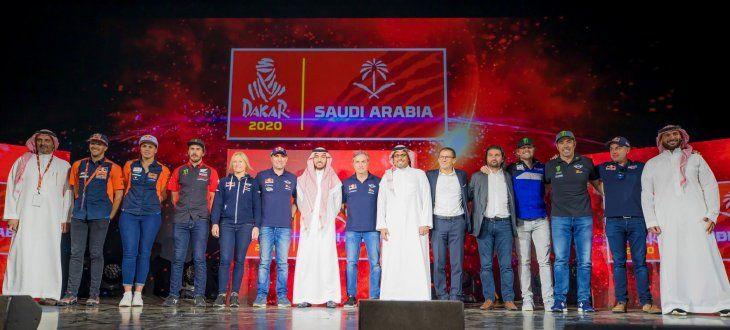 La edición 2020 del Dakar vivió su presentación en la ciudad saudí de Al Qiddiya.