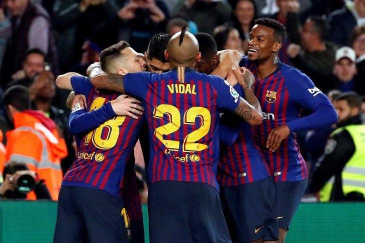Messi hizo el tanto del campeonato para el Barcelona.