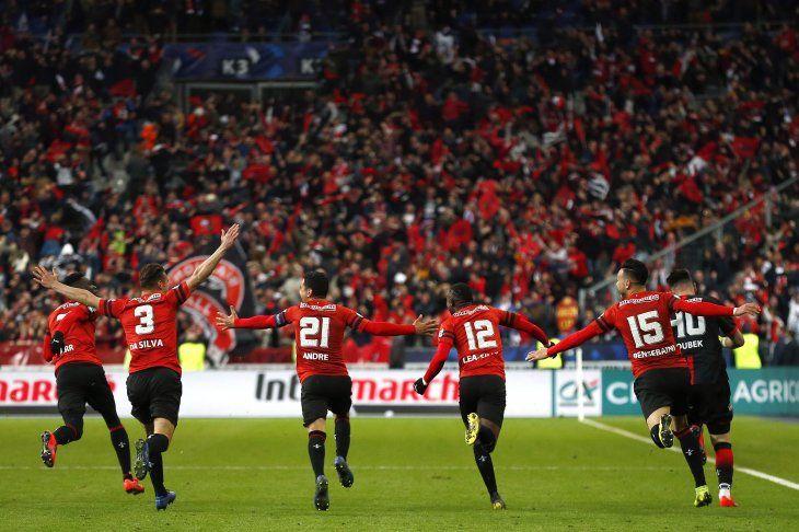El Rennes dio la nota en Francia.