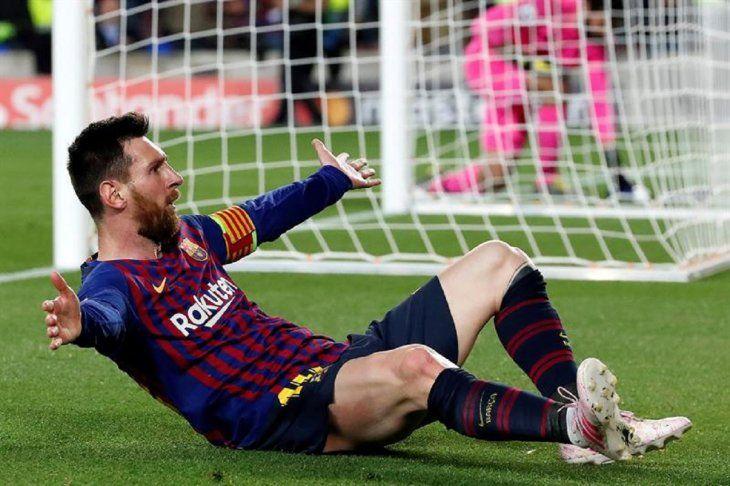 Messi celebra el gol marcado ante el Liverpool.