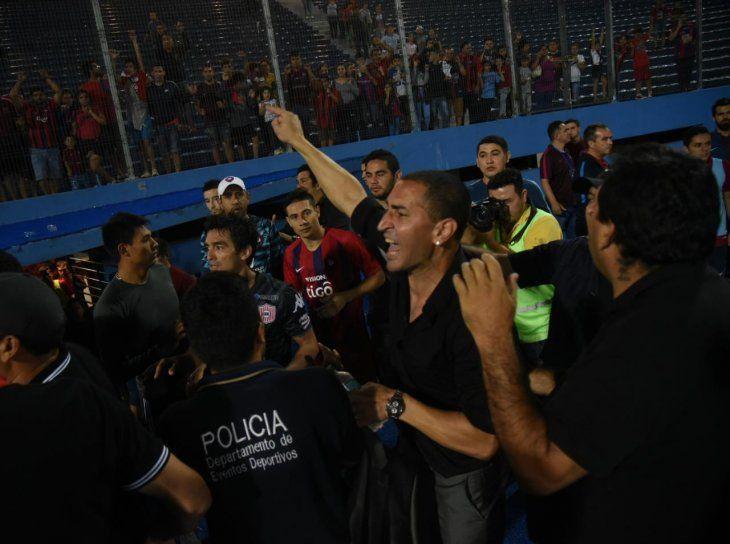 Sergio Orteman tras el partido el partido en La Nueva Olla.