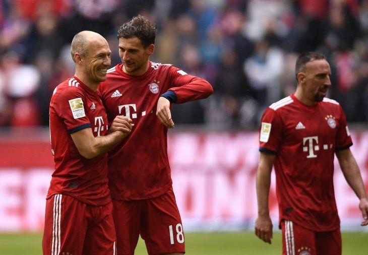 Bayern venció al Hannover por la Bundesliga.