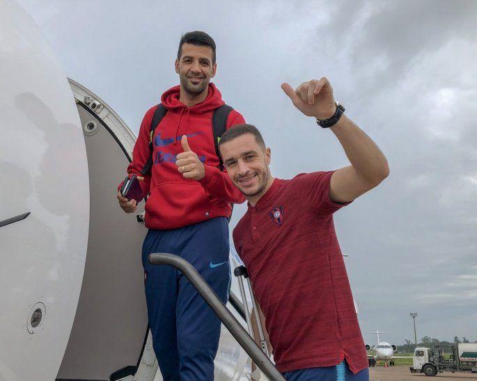 Los uruguayos Rodrigo Muñoz y Marcelo Palau antes del viaje.