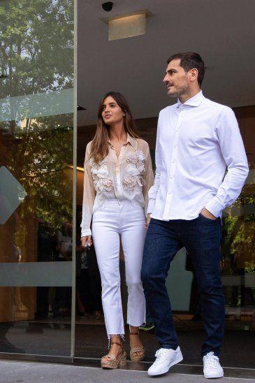 Iker Casillas y su esposa Sara Carbonero.