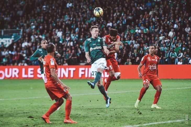 El Saint-Etienne cayó ante Montpellier.