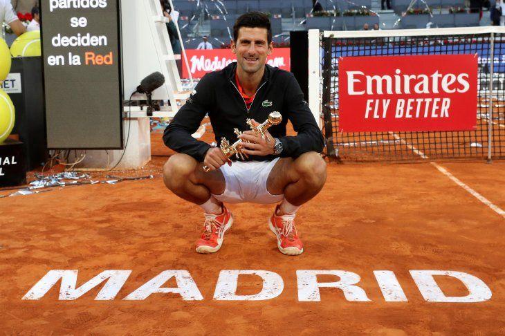 Djokovic logró su tercer título en la capital española.