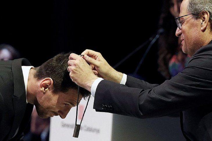 Messi fue condecorado por el gobierno catalán.