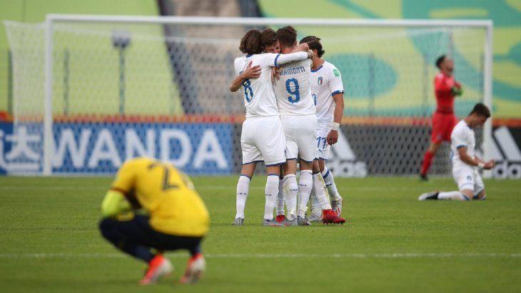 Italia venció a Ecuador y avanzó a octavos de final del Mundial Sub 20.