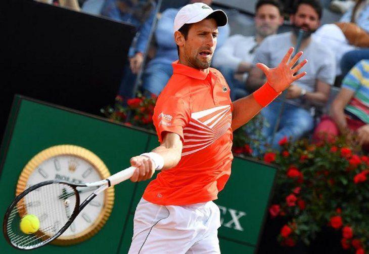 NovakDjokovic durante un partido contra Nadal.