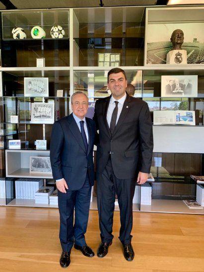Marco Trovato visitó al presidente Florentino Pérez