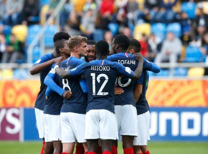 La selección de Francia avanzó a octavos del Mundial Sub 20.