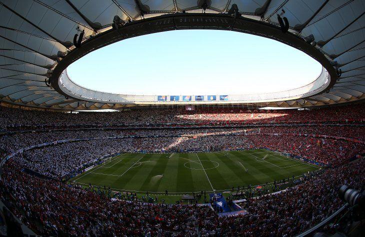 Tremendo ambiente en el Wanda Metropolitano.