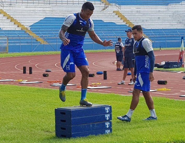 Entrenamiento de la Selección Hondureña de Fútbol.