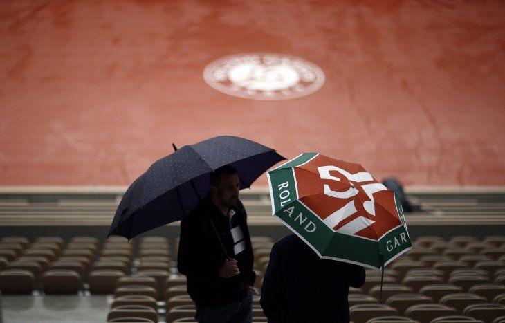 Cancelada la jornada en Roland Garros por la lluvia