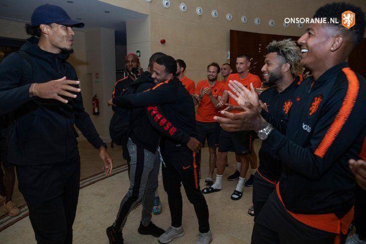 Los campeones de la Champions se sumaron a la concentración de Holanda.