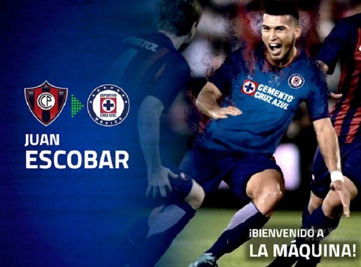 Cruz Azul anunció oficialmente a Juan Escobar.