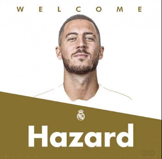 Hazard fue presentado en el Real Madrid.