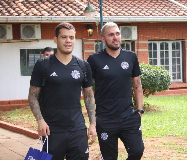 William Mendieta y Jorge Ortega antes de un viaje.