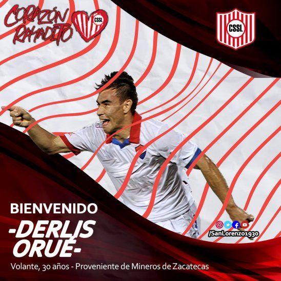 Orué fue presentado en las redes sociales.
