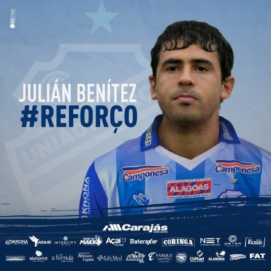 Julián Benítez fue presentado en elSportivo Alagoano.