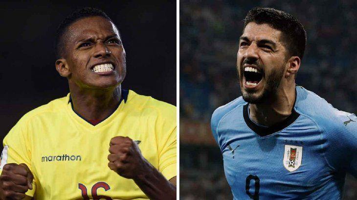 FIGURAS. Antonio Valencia de Ecuador y Luis Suárez de Uruguay están llamados a ser protagonistas.