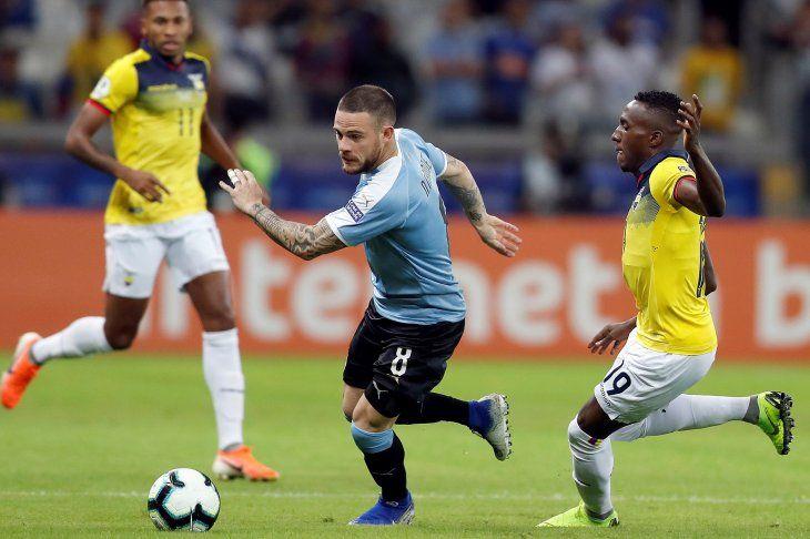 Uruguay y Ecuador juegan en Belo Horizonte.