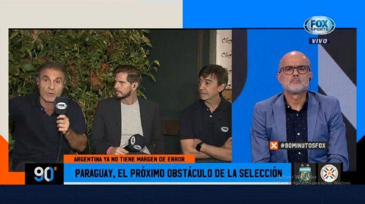 Ruggeri (izquierda) dijo que Paraguay es muy inferior a Argentina.