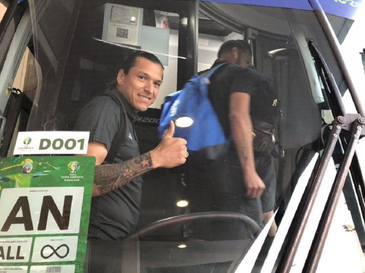 Federico Santander antes del viaje a Belo Horizonte.