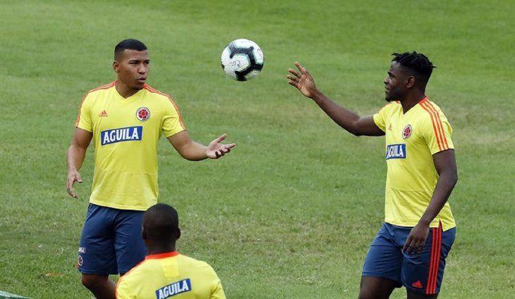 Entrenamiento de la Selección de Colombia.