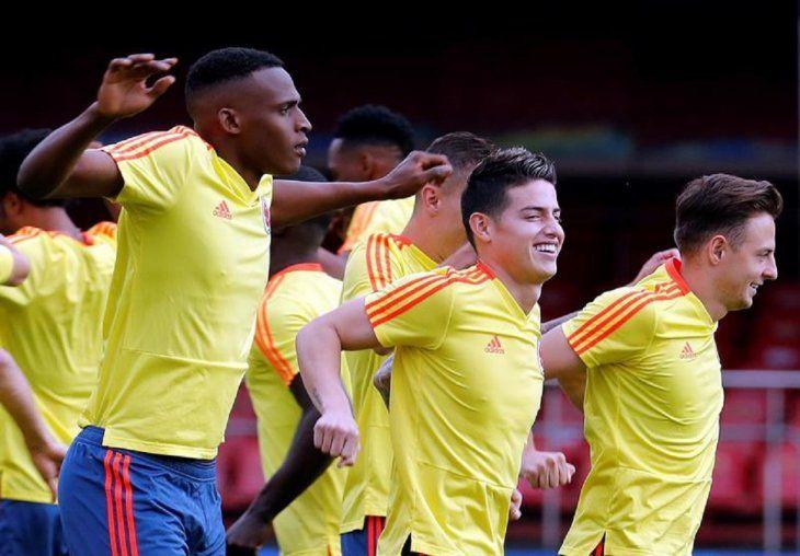 Los jugadores de Colombia JeffersonLerma(i)