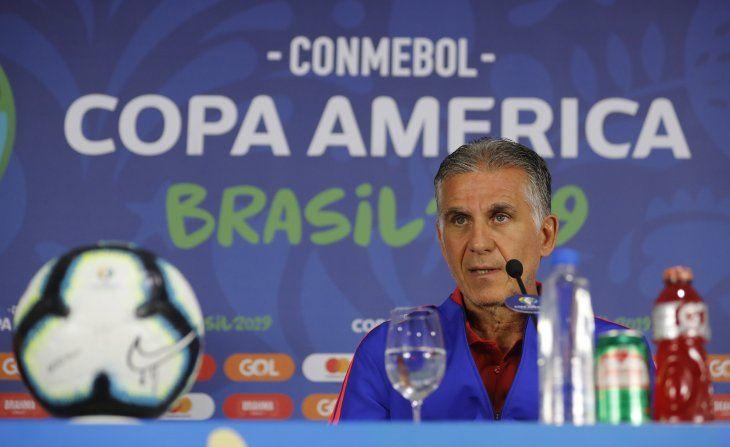 El DT portugués habló el encuentro ante Paraguay.