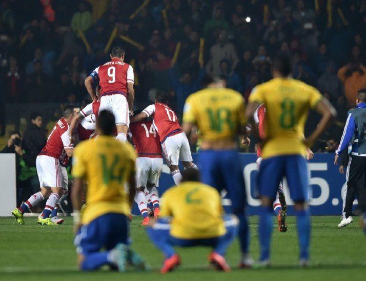 Paraguay eliminó por penales a Brasil en el 2015.