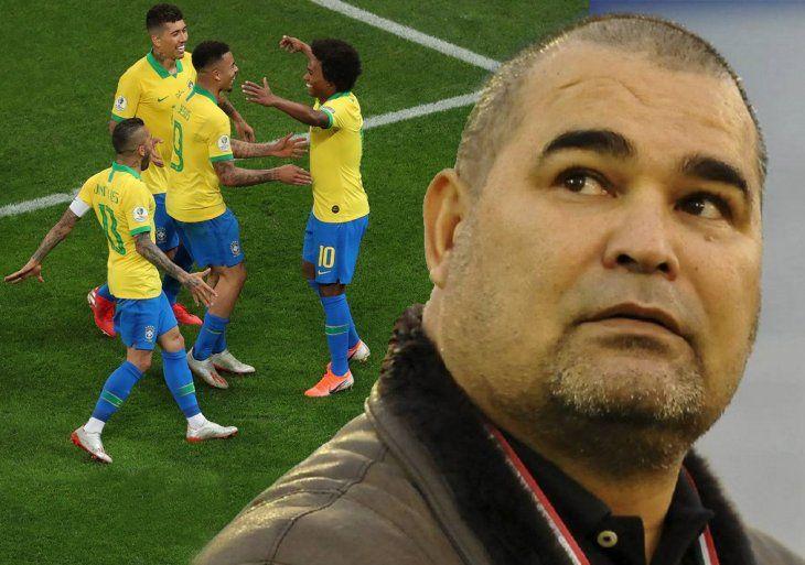 Chilavert dio su equipo para medir a Brasil.