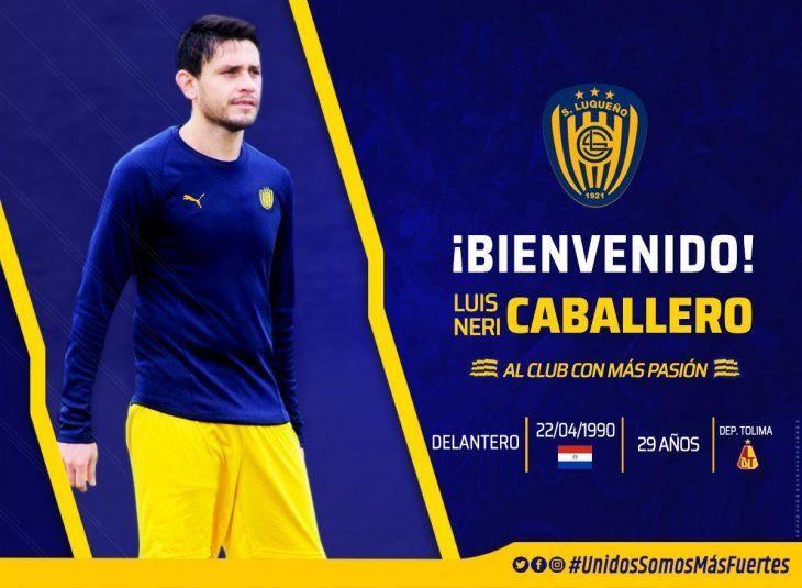 Luis Neri Caballero es nuevo jugador de Luqueño.