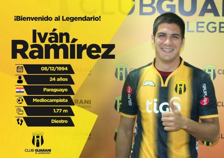 Iván Ramírez fue anunciado como refuerzo de Guaraní.