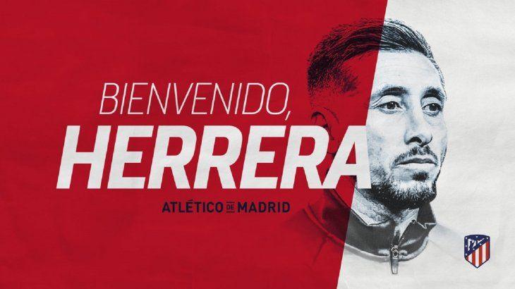 Héctor Herrera fue anunciado como refuerzo de Atlético de Madrid.