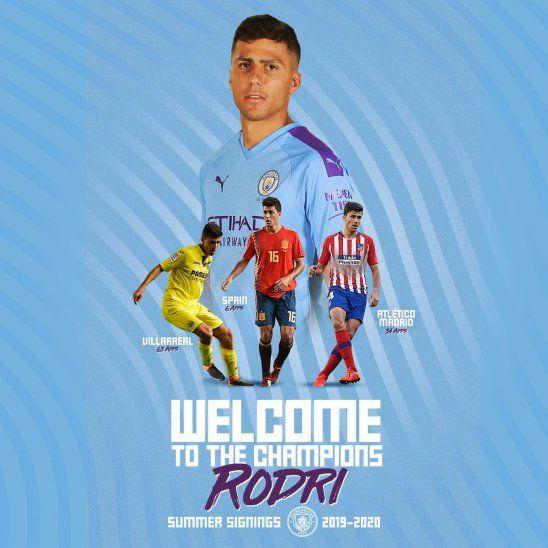 Rodrigo fue anunciado como nuevo jugador del City.