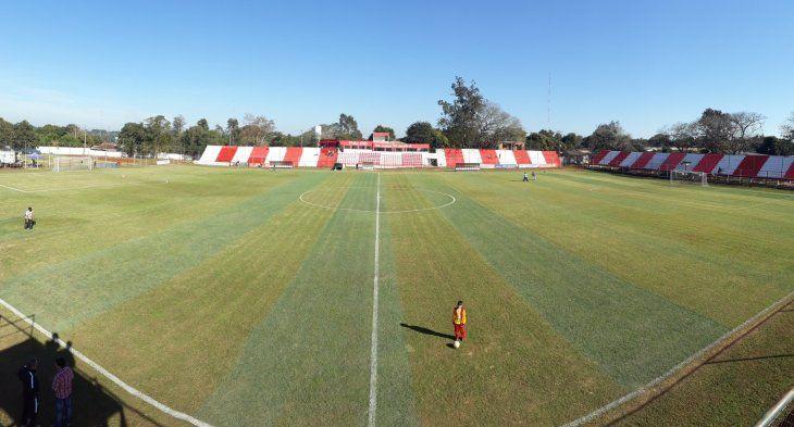 El estadio Leandro Ovelar de Juan León Mallorquín recibe a la Copa Paraguay.