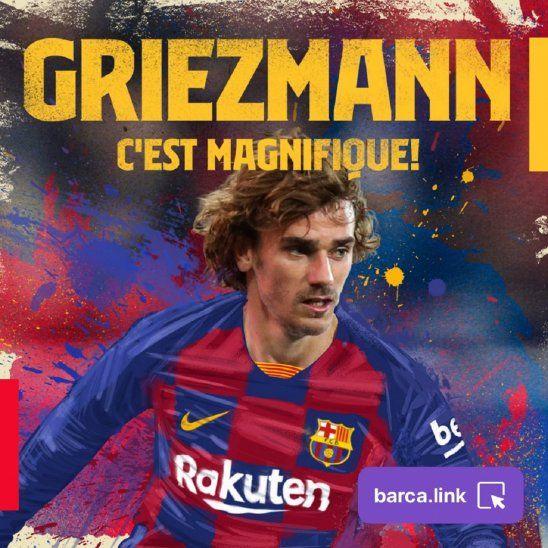 Oficial. Griezmann es nuevo jugador del Barcelona.