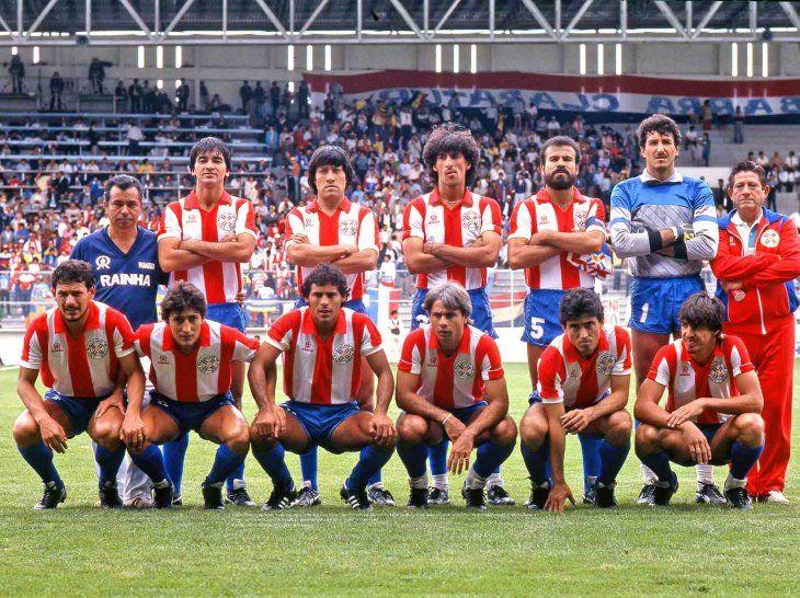 Fantástica postal de Paraguay en el Mundial de México 1986.