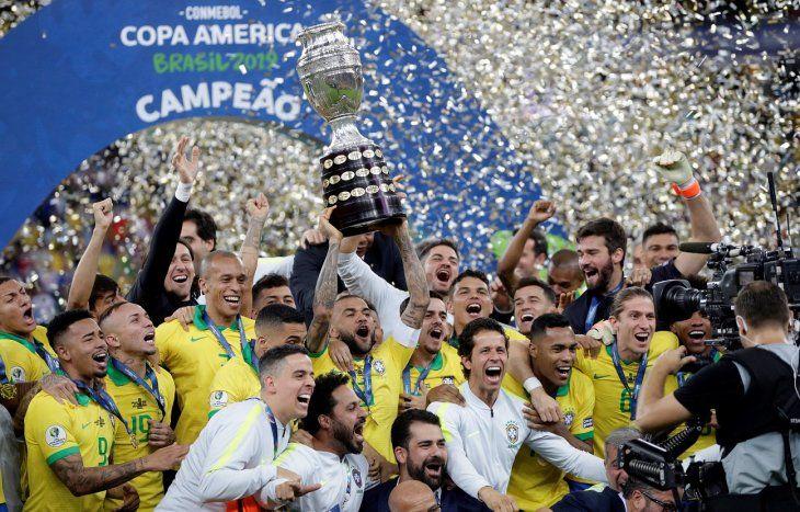 Brasil ocupa el segundo lugar tras ganar la Copa América.
