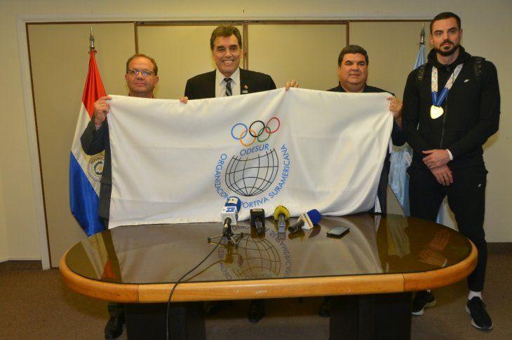 Paraguay recibió la bandera de la Organización Deportiva Suramericana ODESUR pero ese sueño finalmente será postergado.