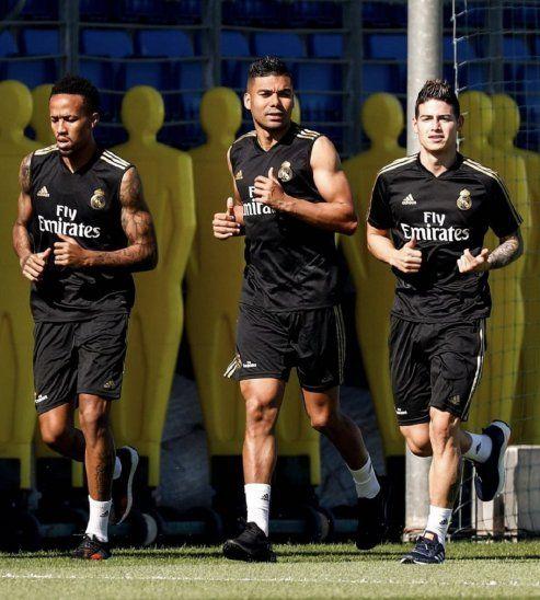 James vuelve a entrenarse con el Real Madrid dos años después