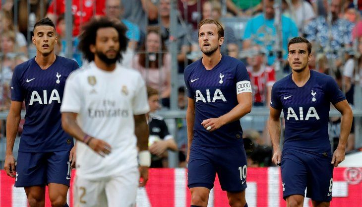 Kane hizo el gol ante el Real Madrid.