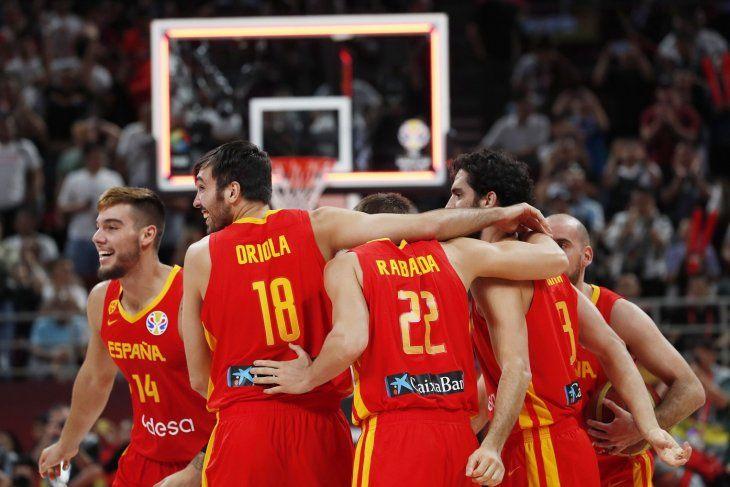 España derrotó a Argentina en el Mundial de Básquetbol.
