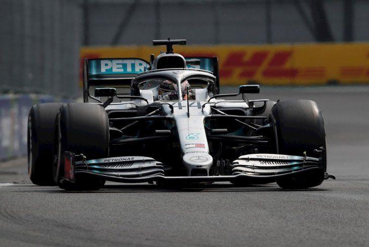 El inglés Lewis Hamilton (Mercedes) festejó el triunfo en México.